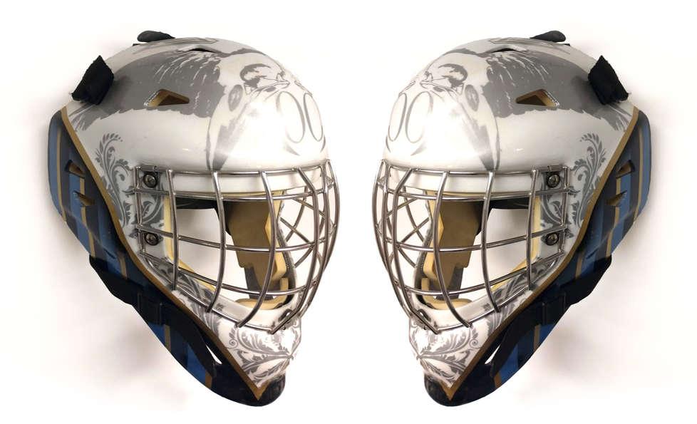 Crow themed hockey mask