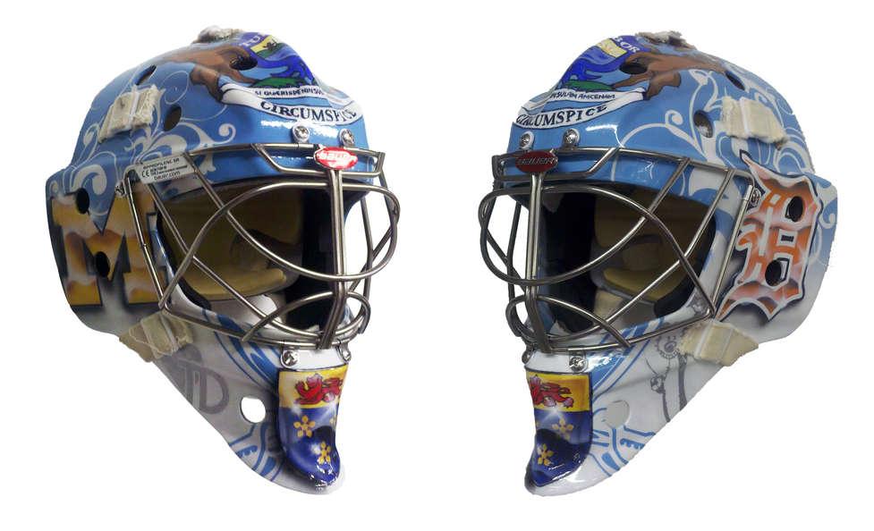 Michigan themed goalie mask