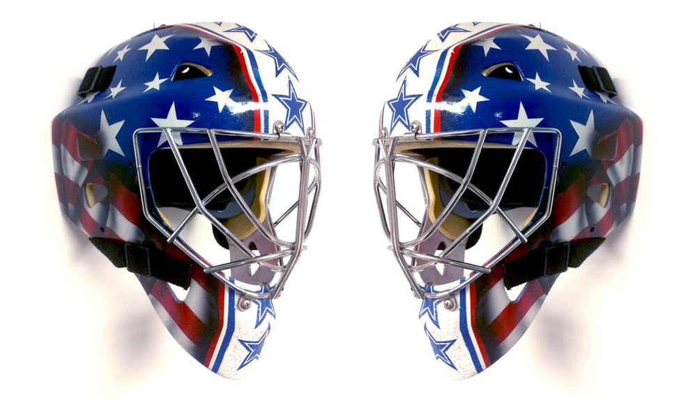 USA themed goalie mask