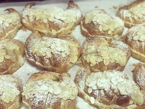 French Almond Croissants