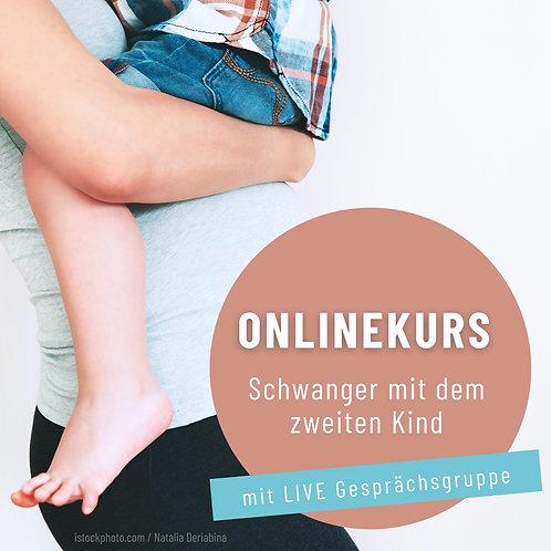 """Onlinekurs """"Schwanger mit dem zweiten Kind mit LIVE Gesprächsgruppe"""""""