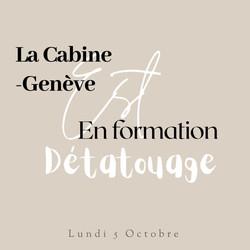 Le détatouage à La Cabine-Genève