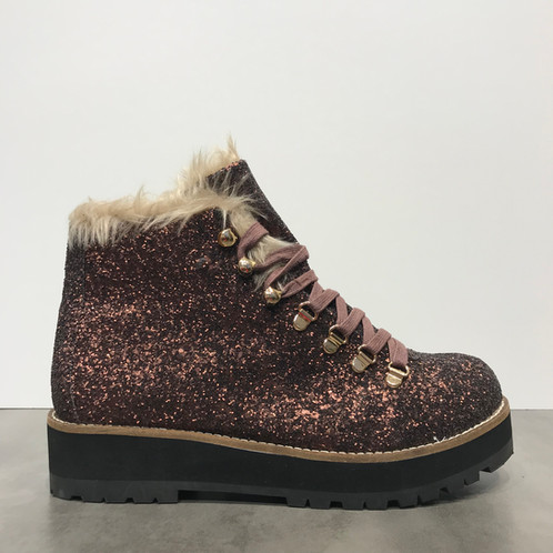 new product 2f90a 604f0 BUFFALO Glitzer-Boots gefüttert in bronze