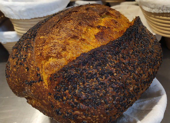 Pão de abóbora com gergelim preto orgânico 700g