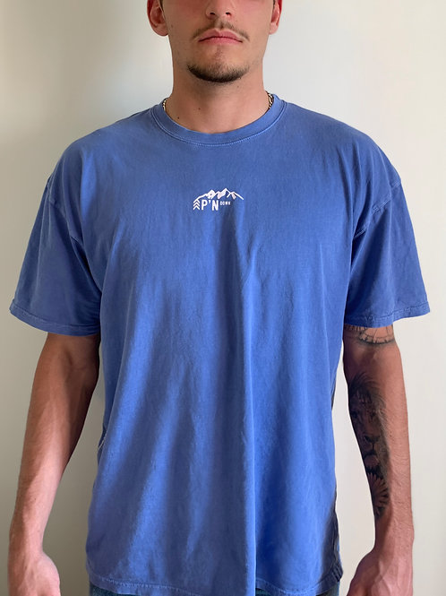 T-SHIRT - Bleu délavé