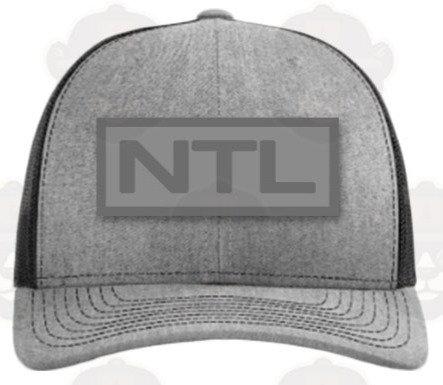 Trucker Hat: Grey/Woven Patch