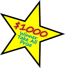 Star with text - $1000 Winner Take All Prize