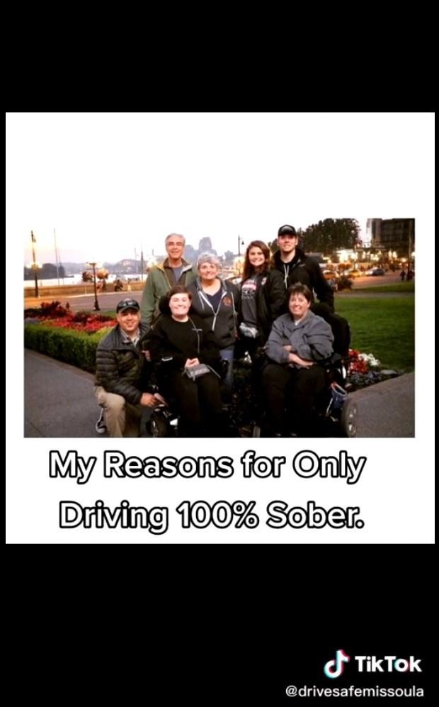 Linked image to TikTok video showing my reasons for only driving sober.