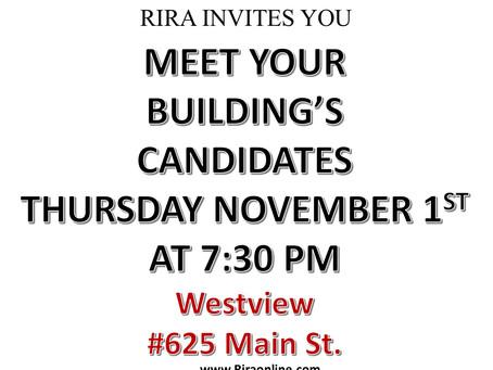 Candidate's Night - November 1, 7:30PM