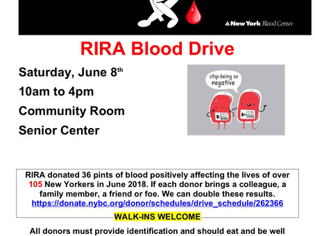Sign Up: Blood Drive to Take Place on RI Day