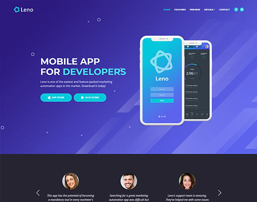 leno-free-mobile-app-landing-page-templa