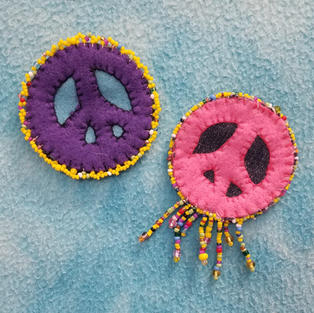 Peace Signs - Beaded