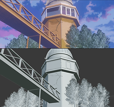 Remaking Anime scenes in Blender 3D