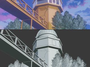 Remaking Anime scenes in Blender 3D
