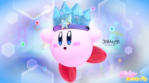 Ice Kirby by Joshua Ader TooEazyCG
