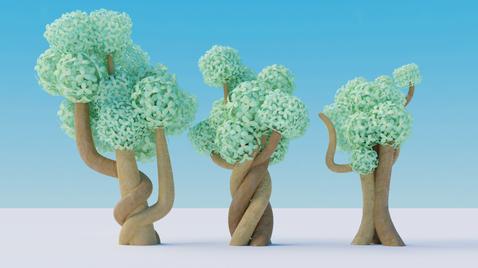 Green Gardens Trees by Joshua Ader TooEazyCG