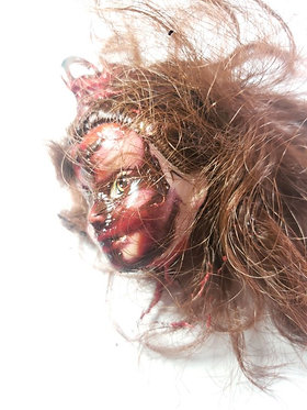 Burnt Barbie Head Keychain