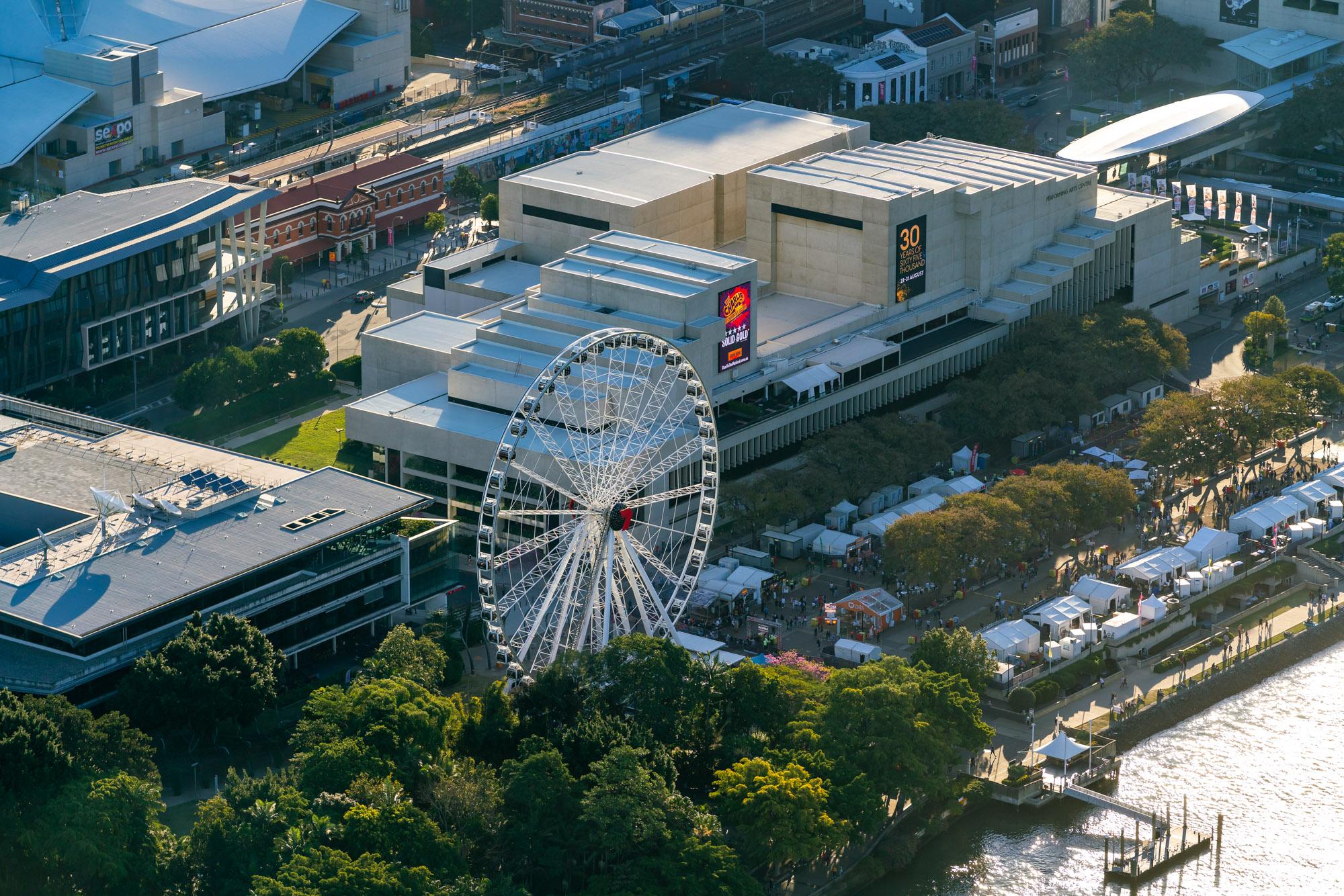 Brisbane CBD Australia - Aerial Helicopt
