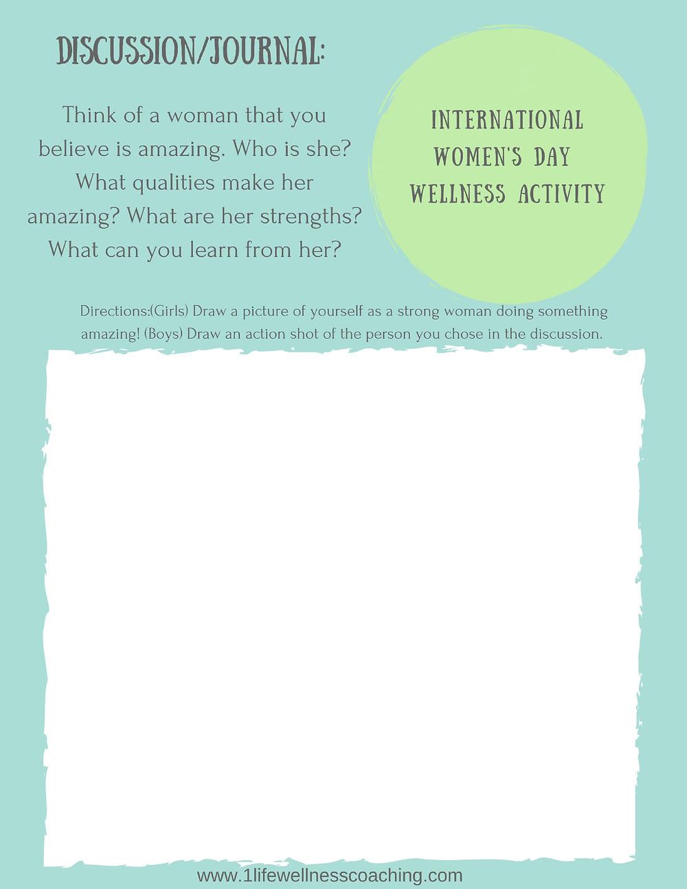 Free Women's Day Wellness Activity