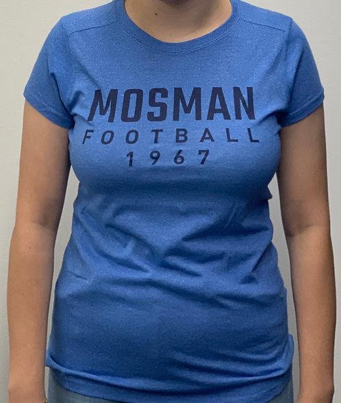 MFC Adult Womens T-Shirt (Blue Heather)
