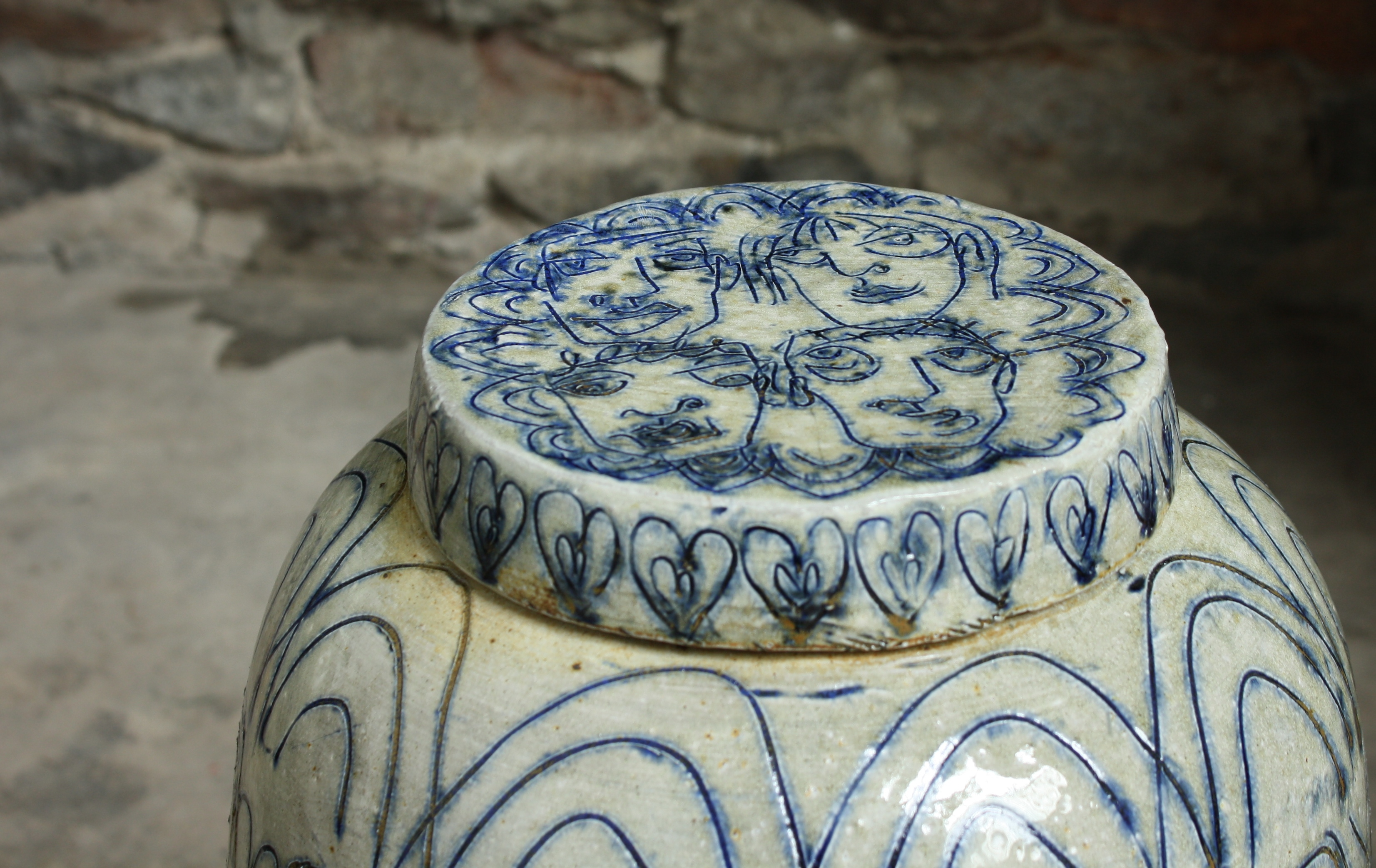Lidded Vessel, detail