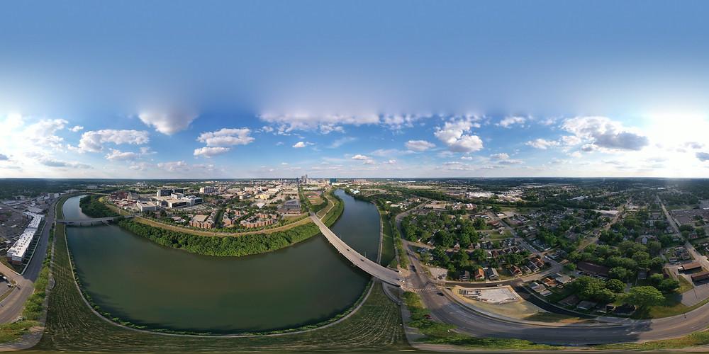 Aerial 360 photo Indianapolis, Indiana