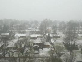 Snowfall in Indianapolis, Indiana