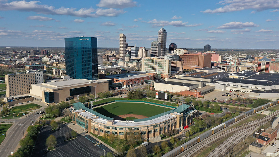 Downtown Indianapolis. Image of victory field, JW Marriott, and many other buildings in Downtown.