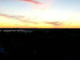 Sunset hyperlapse photo
