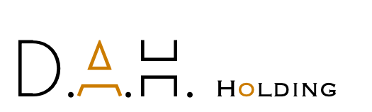 D.A.H. Holding logo white background