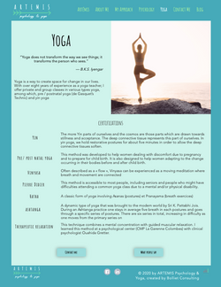 Artemis Yoga Page