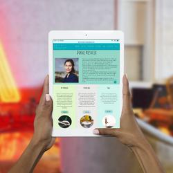 Artemis HomePage Tablet Work Example