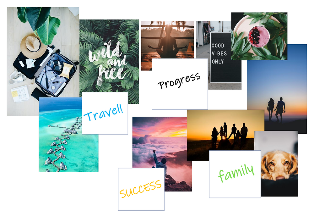 Example of vision board #personaldevelopment #vision #objective #success #happylife