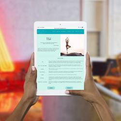 Artemis Yoga Page Tablet Work Example
