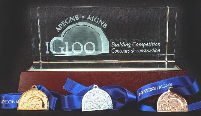 IGLOO trophy and medals