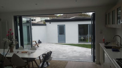 finished garden area to extension