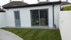 finished garden area with granite