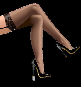 crossed-beautiful-womans-legs-in-dark-st