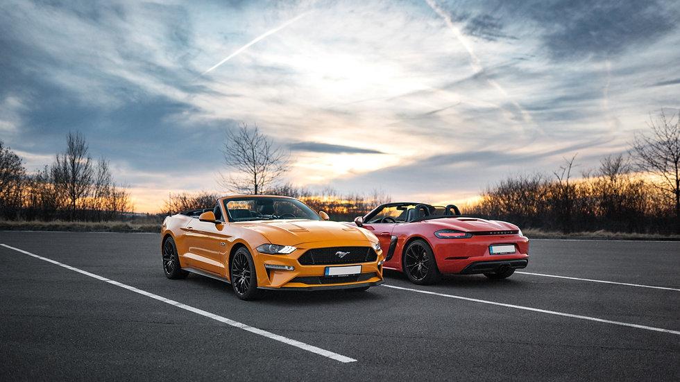 Řízení na veřejných komunikacích a dálnicích Lamborghini | Porsche | Mustang