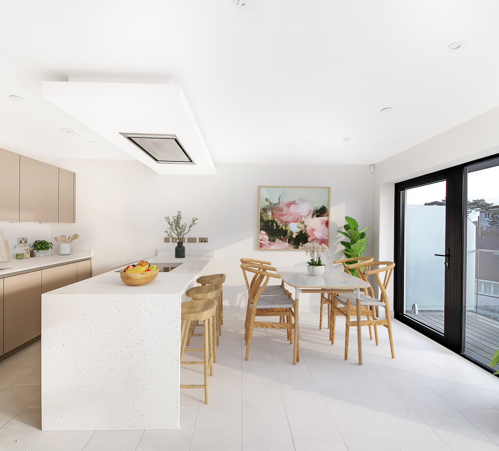Virtual Staging in Kitchen Diner