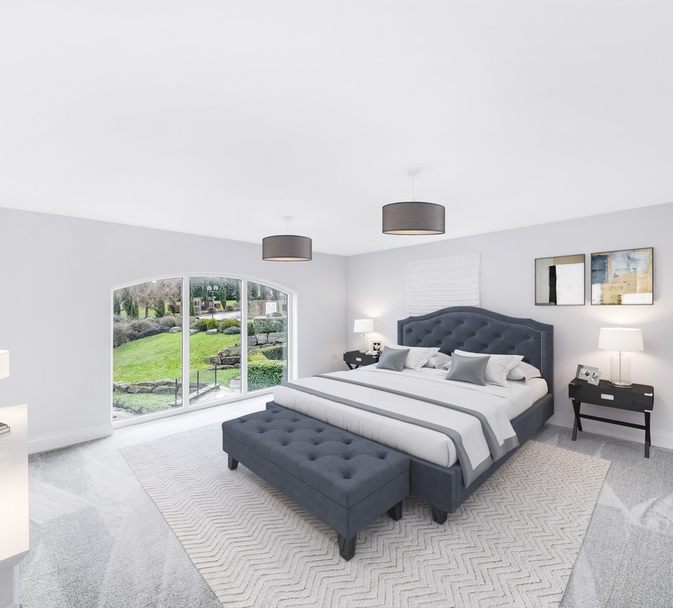 Virtual Staging of Master Bedroom