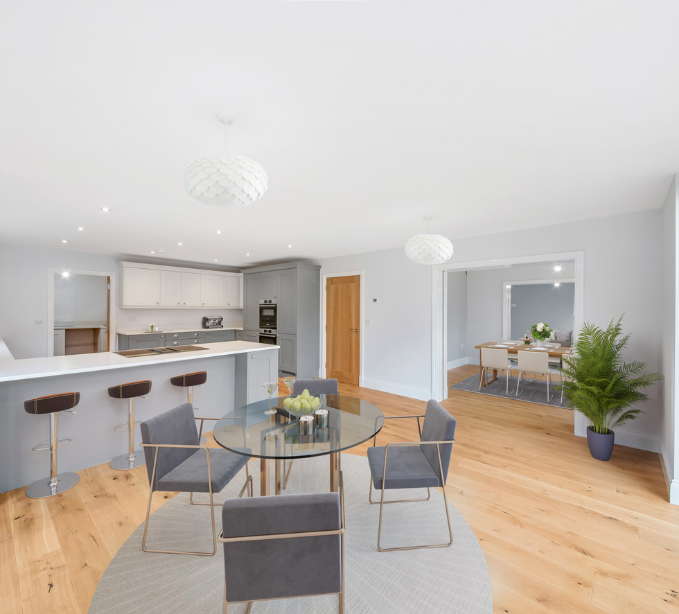 Kitchen & Dining Room with Virtual Stagi