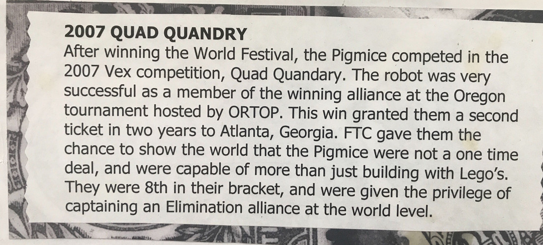Note that the text is wrong - Quad Quandry took place in 2008!