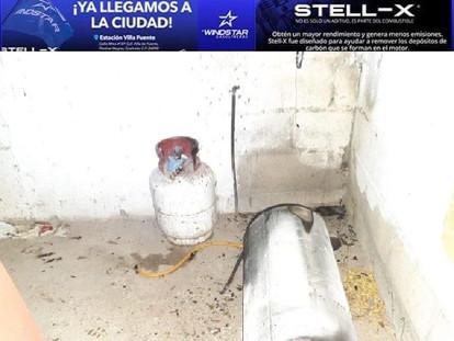 EXPLOTA TANQUE ESTACIONARIO DE GAS. TRES NIÑOS LESIONADOS.