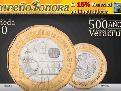 CONOZCA USTED LA NUEVA MONEDA DE 20 PESOS, CON FORMA DODECAGONAL.