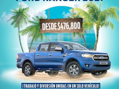 ¡Estrena tu Ford Ranger desde $476,800!