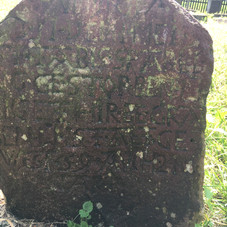 Tobias Sparling gravestone. This stone is originally from the Przechowka area but now in the cemetery at Stogi (Heubuden), Poland