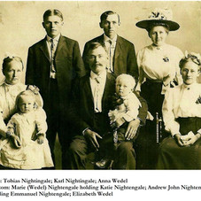 Nachtigal-Wedel group shortly after arrival in USA c1909