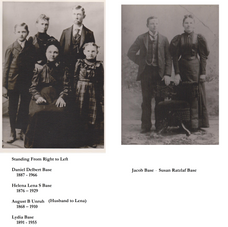 Susanna Ratzlaff Base with family.  Photo on right is likely taken in Volhynia prior to 1874