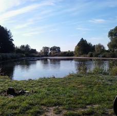 Pond at eastern edge of Antonowka village